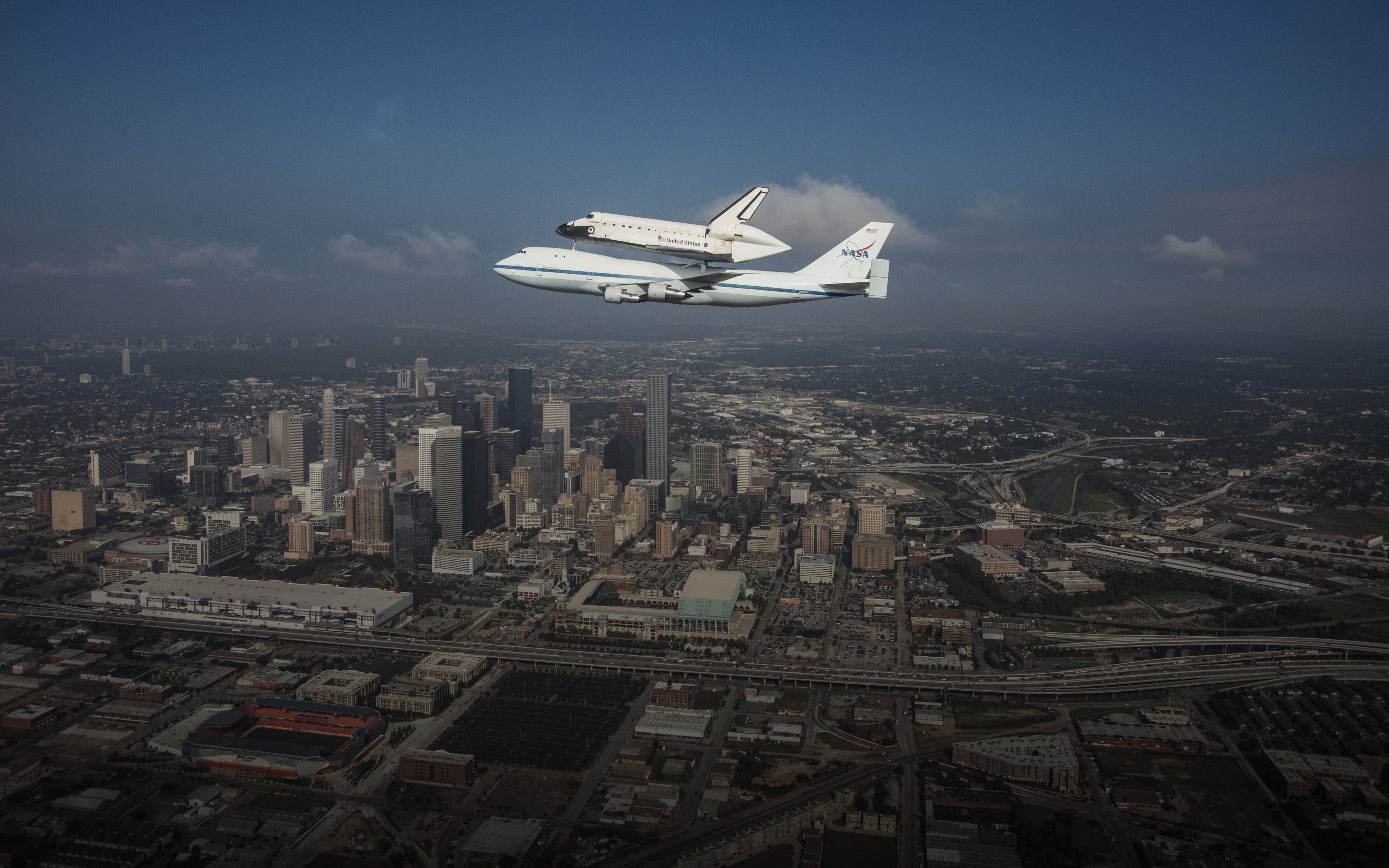Endeavour Fly-over Houston, TX