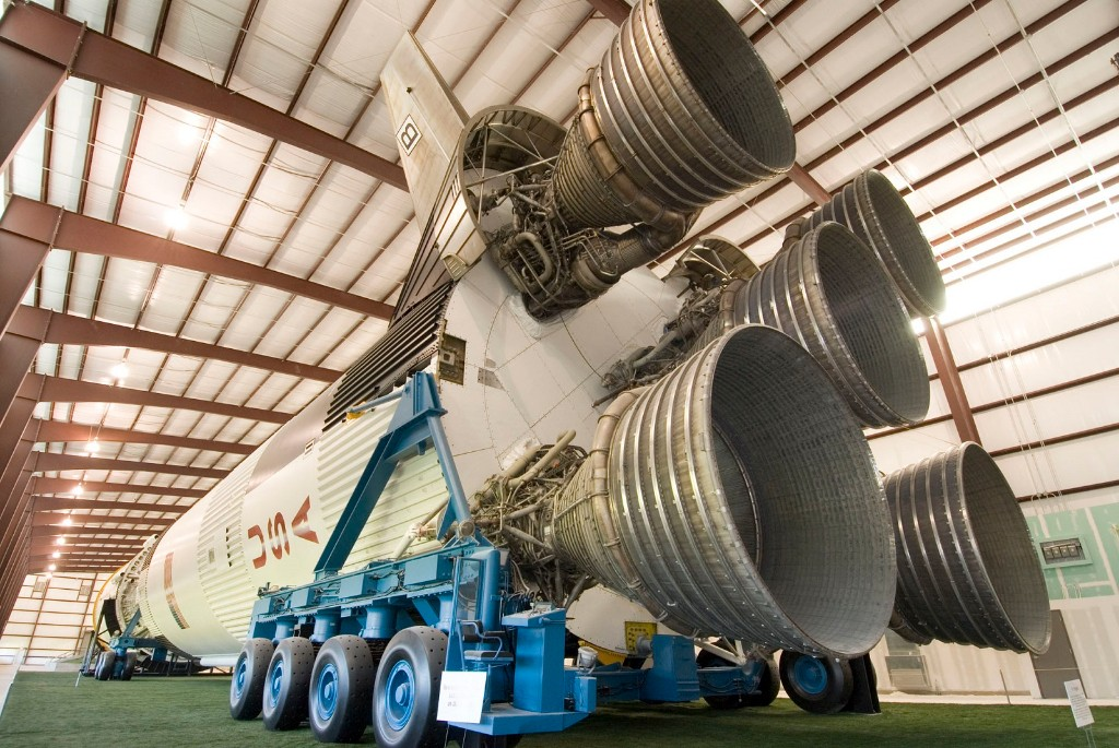 Saturn V rocket boosters
