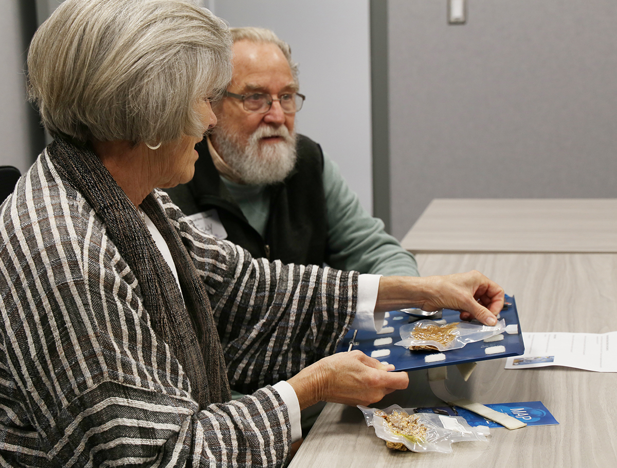 Visitors explore space food at One Small Step Together event