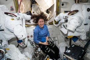 Christina Koch onboard the ISS