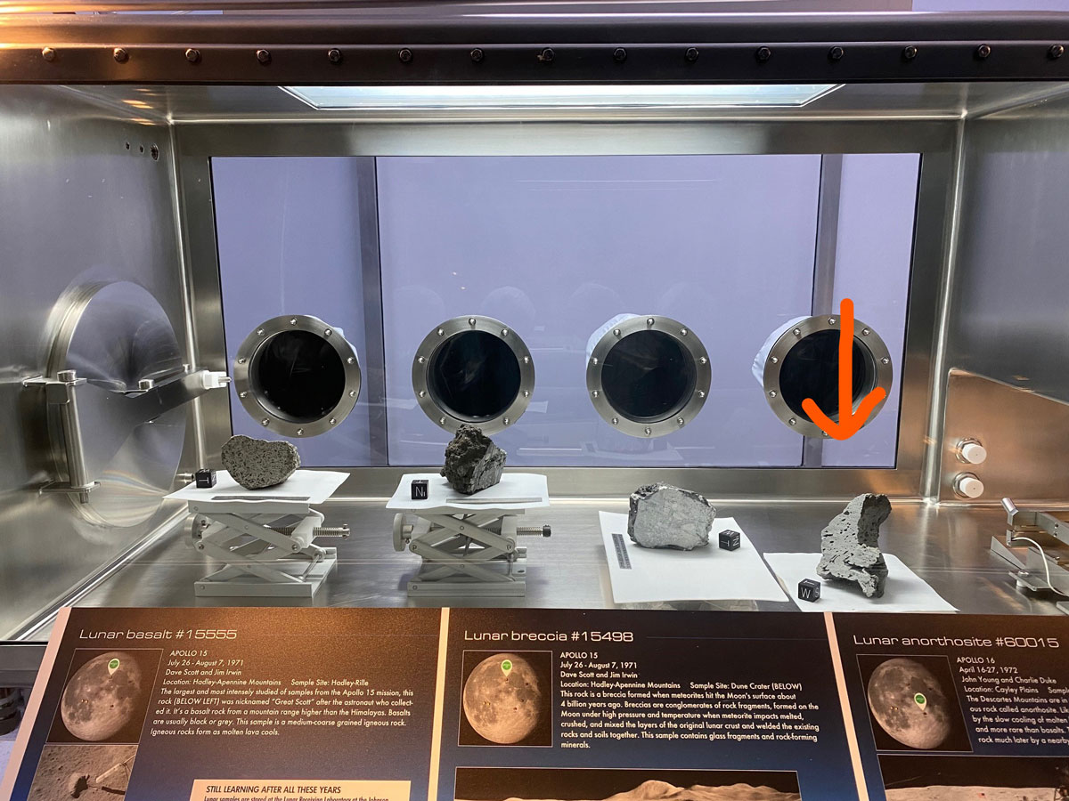 Space Center Houston adds new lunar sample